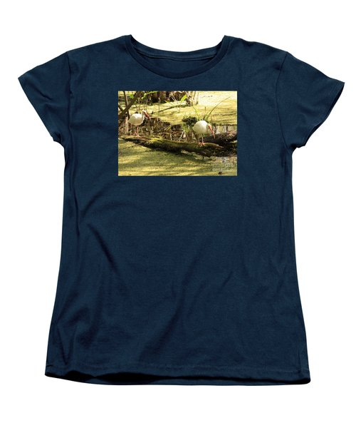 Two Ibises On A Log Women's T-Shirt (Standard Cut) by Carol Groenen