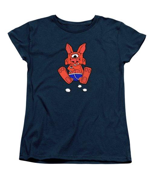 Uno The Cyclops Bunny Women's T-Shirt (Standard Cut) by Bizarre Bunny