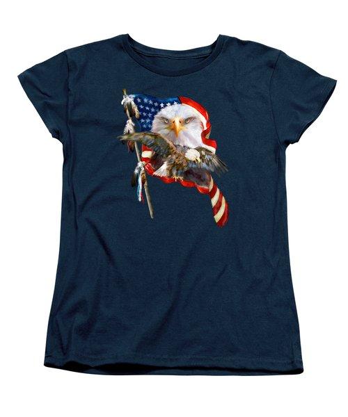 Vision Of Freedom Women's T-Shirt (Standard Cut) by Carol Cavalaris