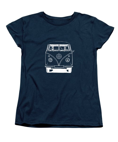 Vw Van Graphic Artwork Tee White Women's T-Shirt (Standard Cut) by Edward Fielding