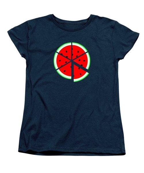 Watermelon Wedge Women's T-Shirt (Standard Cut) by Susan Eileen Evans