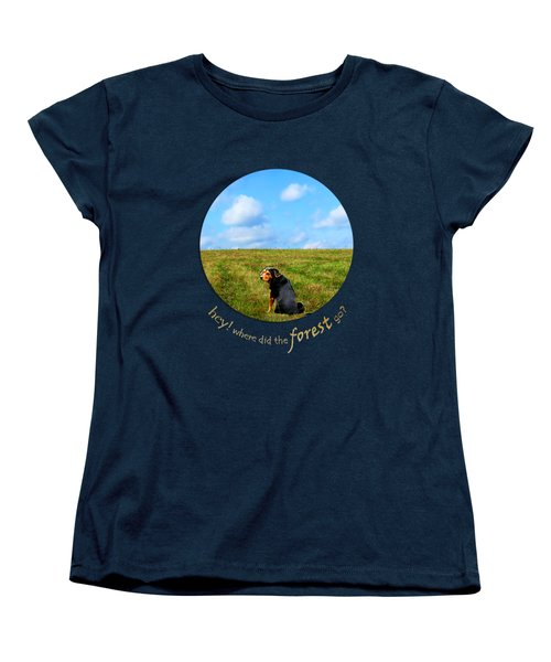Where Did The Forest Go Women's T-Shirt (Standard Cut) by Christina Rollo