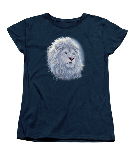 White Lion Women's T-Shirt (Standard Cut) by Lucie Bilodeau