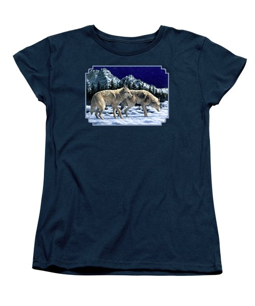 Wolves - Unfamiliar Territory Women's T-Shirt (Standard Cut) by Crista Forest