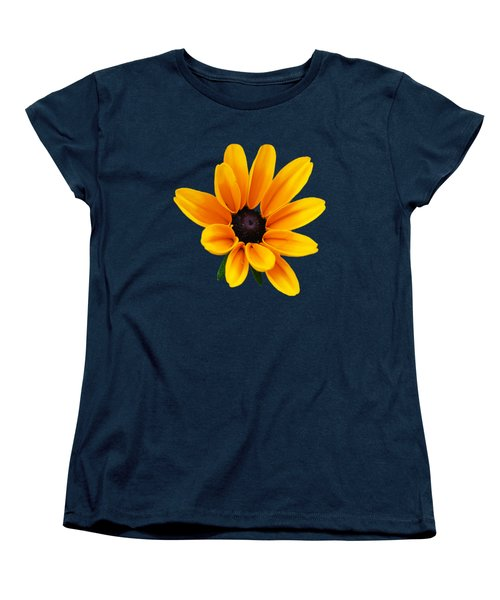 Yellow Flower Black-eyed Susan Women's T-Shirt (Standard Cut) by Christina Rollo