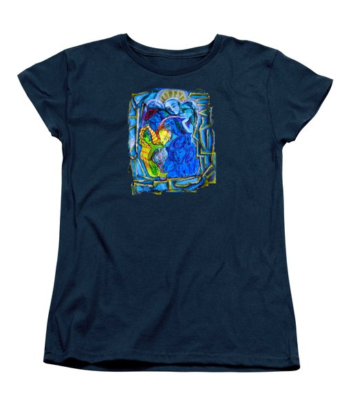Yeti And The Mermaid Series I Don't You See? Women's T-Shirt (Standard Cut) by Joanna Whitney