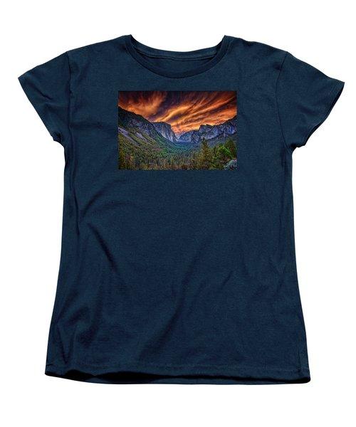 Yosemite Fire Women's T-Shirt (Standard Cut) by Rick Berk