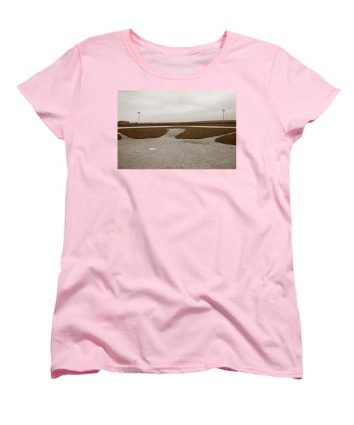 Baseball Women's T-Shirt (Standard Cut) by Frank Romeo