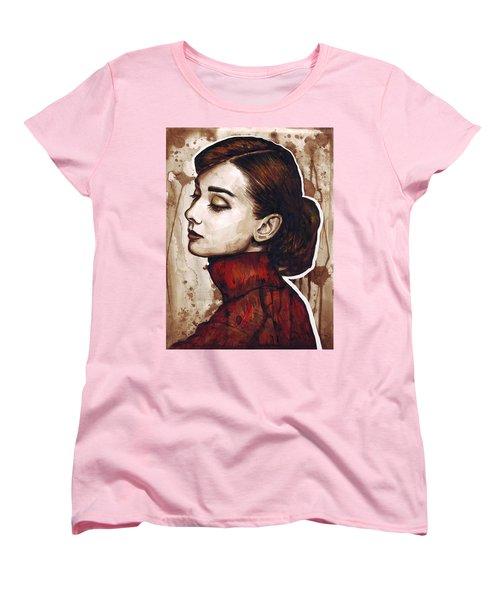 Audrey Hepburn Women's T-Shirt (Standard Cut) by Olga Shvartsur