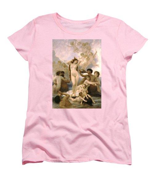 Birth Of Venus Women's T-Shirt (Standard Cut) by William Bouguereau