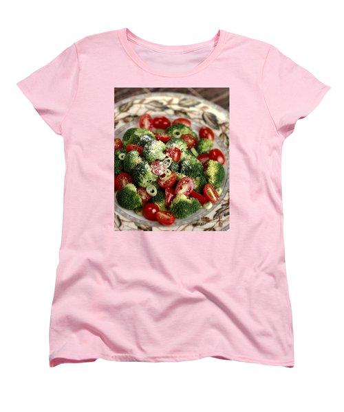 Broccoli And Tomato Salad Women's T-Shirt (Standard Cut) by Iris Richardson