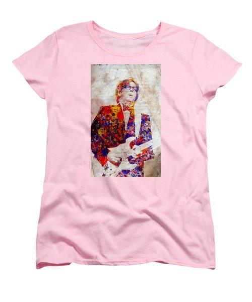 Eric Claptond Women's T-Shirt (Standard Cut) by Bekim Art