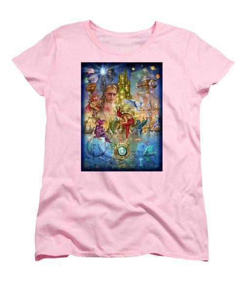 Fantasy Island Women's T-Shirt (Standard Cut) by Ciro Marchetti