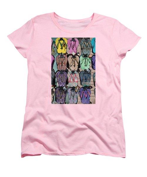 Flip Flops Women's T-Shirt (Standard Cut) by Peter Tellone