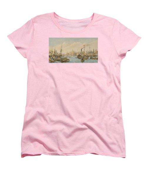 Looking Towards London Bridge Women's T-Shirt (Standard Cut) by William Parrot