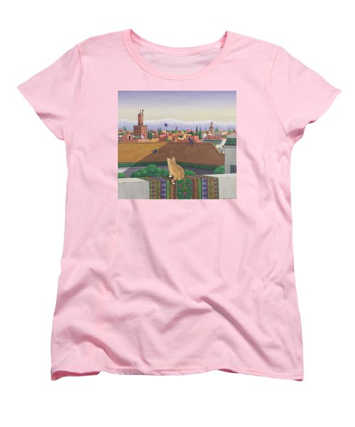 Rooftops In Marrakesh Women's T-Shirt (Standard Cut) by Larry Smart