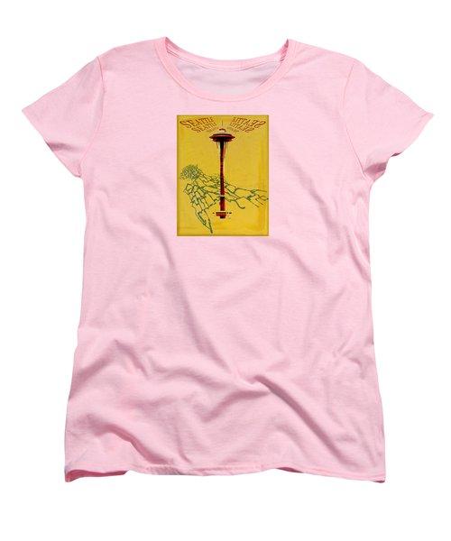 Seattle Calling Women's T-Shirt (Standard Cut) by Sandstone Inc