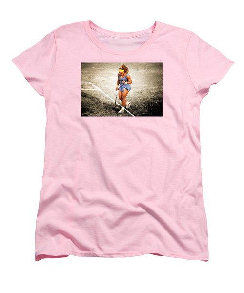 Serena Williams Count It Women's T-Shirt (Standard Cut) by Brian Reaves