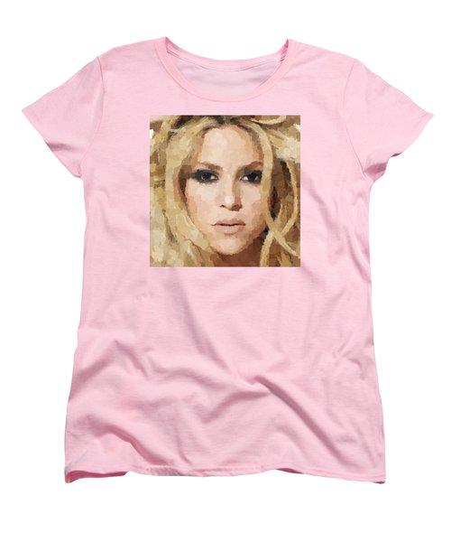 Shakira Portrait Women's T-Shirt (Standard Cut) by Samuel Majcen