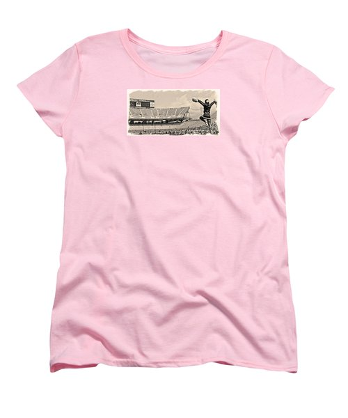 Stadium Cheer Black And White Women's T-Shirt (Standard Cut) by Tom Gari Gallery-Three-Photography