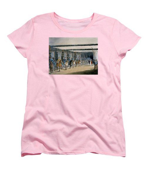 The Horse Armour Tower, Print Made Women's T-Shirt (Standard Cut) by T. & Pugin, A.C. Rowlandson