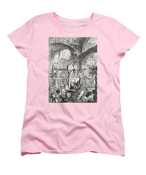 The Man On The Rack Plate II From Carceri D'invenzione Women's T-Shirt (Standard Cut) by Giovanni Battista Piranesi