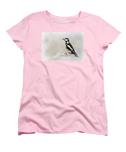 Woodpecker Women's T-Shirt (Standard Cut) by Heike Hultsch