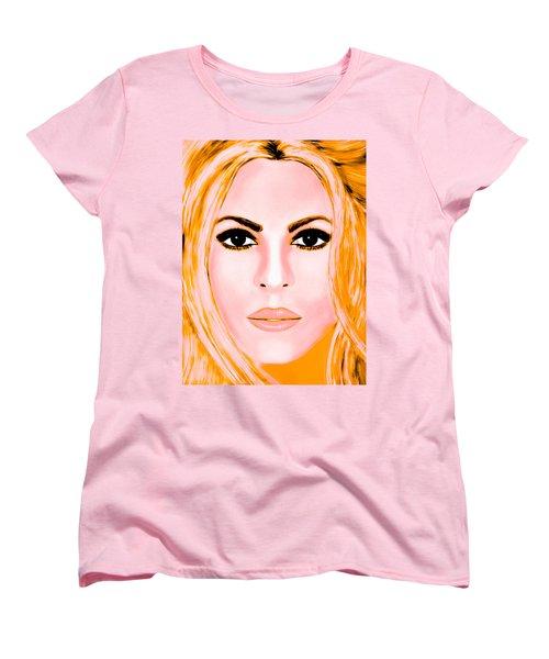 Gold Shakira Women's T-Shirt (Standard Cut) by Mathieu Lalonde
