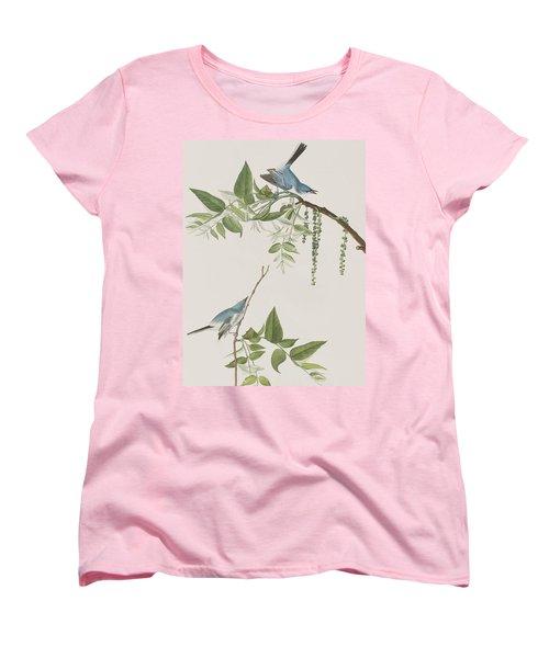 Blue Grey Flycatcher Women's T-Shirt (Standard Cut) by John James Audubon
