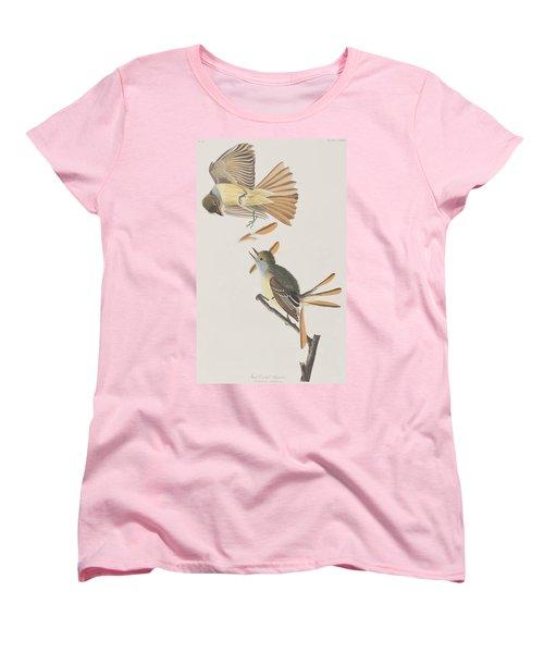 Great Crested Flycatcher Women's T-Shirt (Standard Cut) by John James Audubon