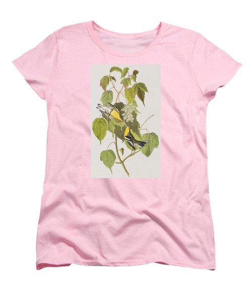 Hemlock Warbler Women's T-Shirt (Standard Cut) by John James Audubon