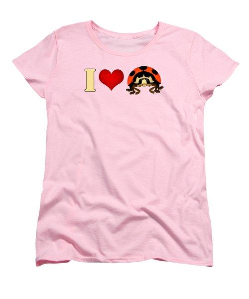 I Love Ladybugs Women's T-Shirt (Standard Cut) by Sarah Greenwell
