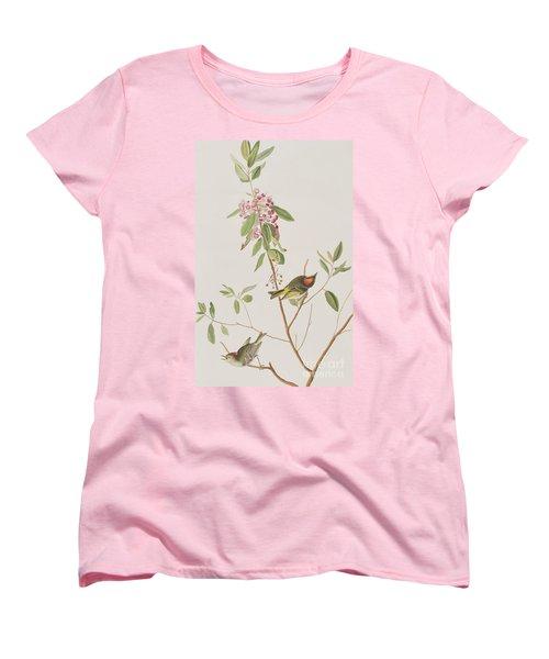 Ruby Crowned Wren Women's T-Shirt (Standard Cut) by John James Audubon
