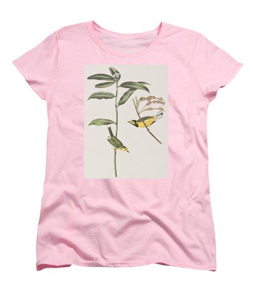 Hooded Warbler  Women's T-Shirt (Standard Cut) by John James Audubon
