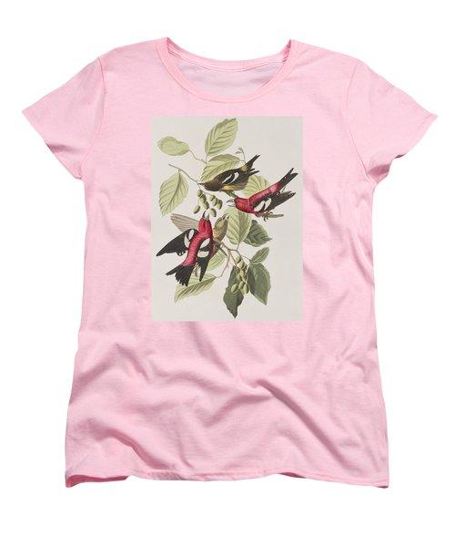 White-winged Crossbill Women's T-Shirt (Standard Cut) by John James Audubon