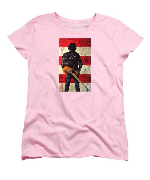 Bruce Springsteen Women's T-Shirt (Standard Cut) by Francesca Agostini