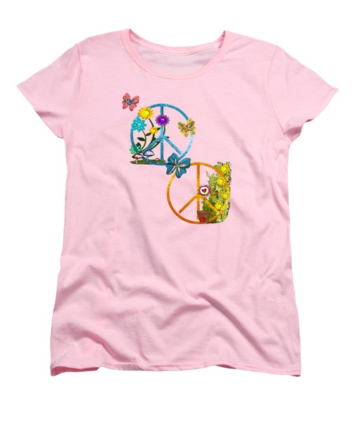 A Very Hippy Day Whimsical Fantasy Women's T-Shirt (Standard Cut) by Sharon and Renee Lozen