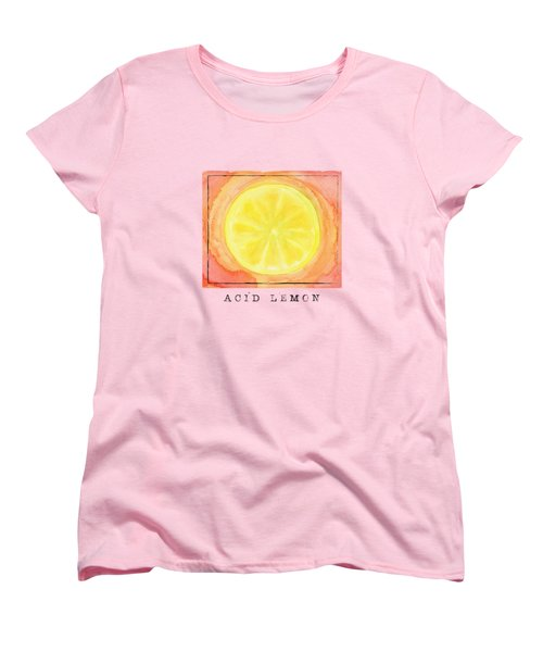 Acid Lemon Women's T-Shirt (Standard Cut) by Kathleen Wong