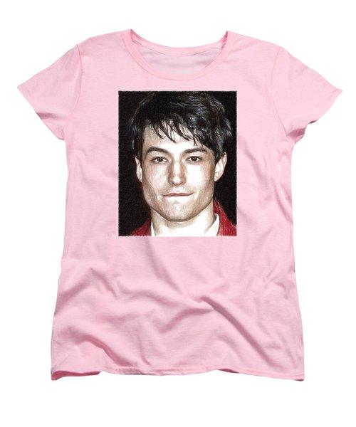 Actor And Musician Ezra Miller Women's T-Shirt (Standard Cut) by Best Actors