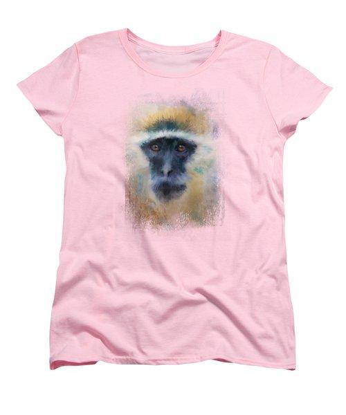 African Grivet Monkey Women's T-Shirt (Standard Cut) by Jai Johnson