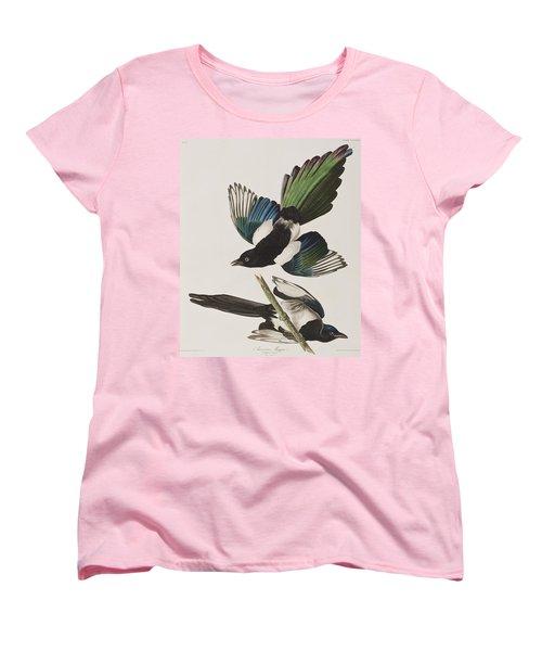 American Magpie Women's T-Shirt (Standard Cut) by John James Audubon