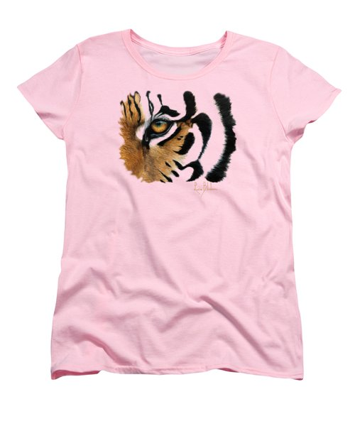 Tiger Eye Women's T-Shirt (Standard Cut) by Lucie Bilodeau