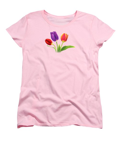 Tulip Trio Women's T-Shirt (Standard Cut) by Sarah Batalka