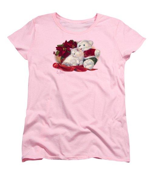 Christmas Kitten Women's T-Shirt (Standard Cut) by Lucie Bilodeau