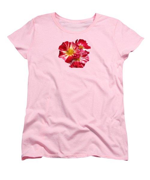 July 4th Rose Women's T-Shirt (Standard Cut) by M E Cieplinski