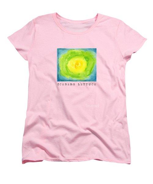 Abstract Iceberg Lettuce Women's T-Shirt (Standard Cut) by Kathleen Wong
