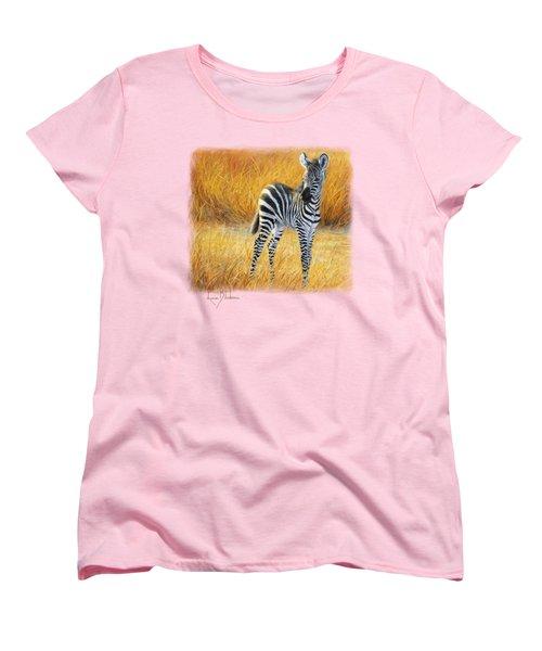 Baby Zebra Women's T-Shirt (Standard Cut) by Lucie Bilodeau