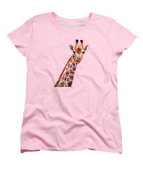 Giraffe Women's T-Shirt (Standard Cut) by Hailey E Herrera
