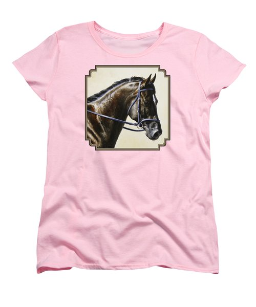 Dressage Horse - Concentration Women's T-Shirt (Standard Cut) by Crista Forest