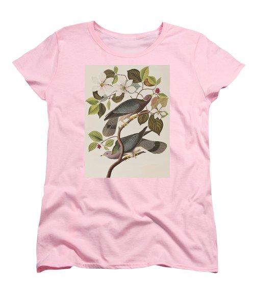 Band-tailed Pigeon  Women's T-Shirt (Standard Cut) by John James Audubon